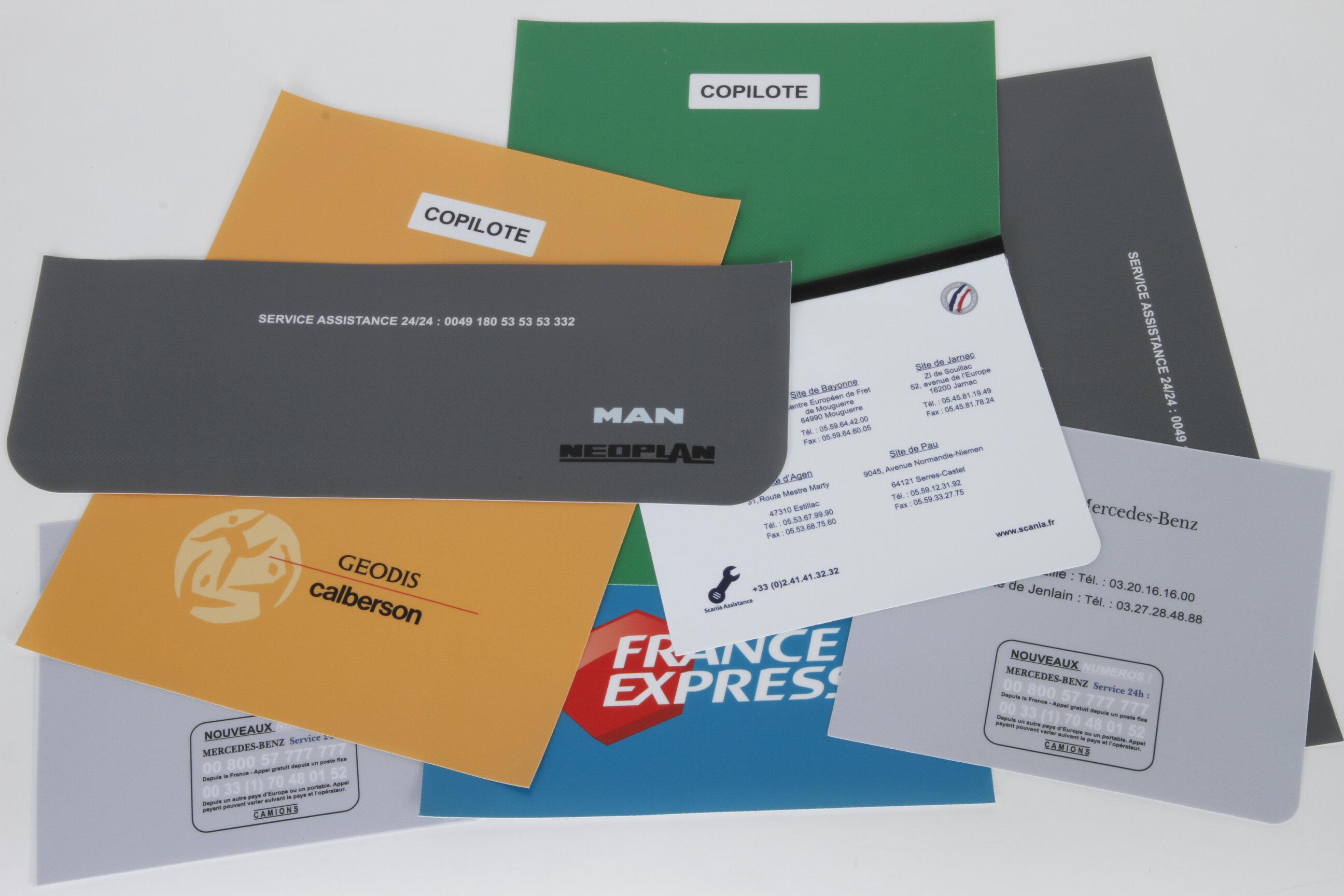 Impression logo sur bâche imprimée plastifiée
