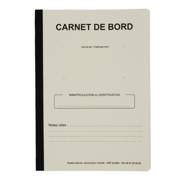 carnet de bord véhicule