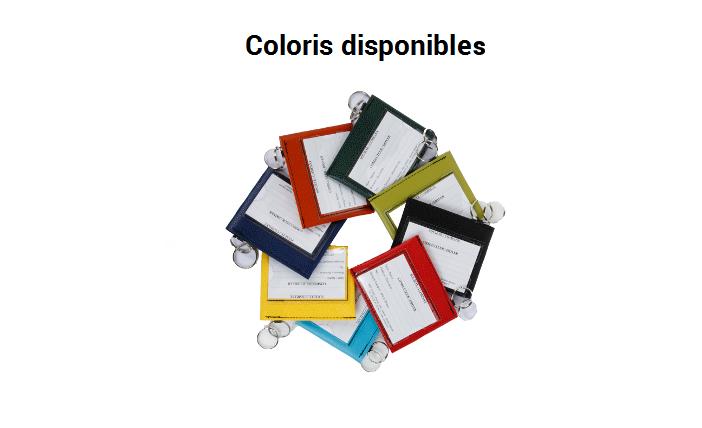Coloris porte-clés identifications